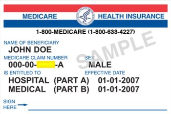 AARP suggests carrying a photocopy of your Medicare card with the last four digits cut out.