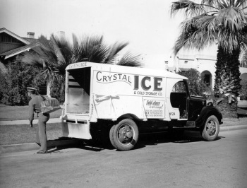 Crystal Ice delivery truck