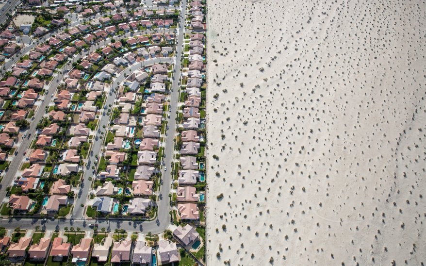 A housing development in Cathedral City, near Palm Springs. (Photo: Damon Winter/The New York Times)