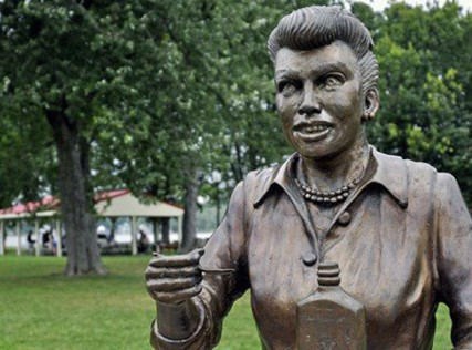 """Scary Lucy"" statue has been replaced"