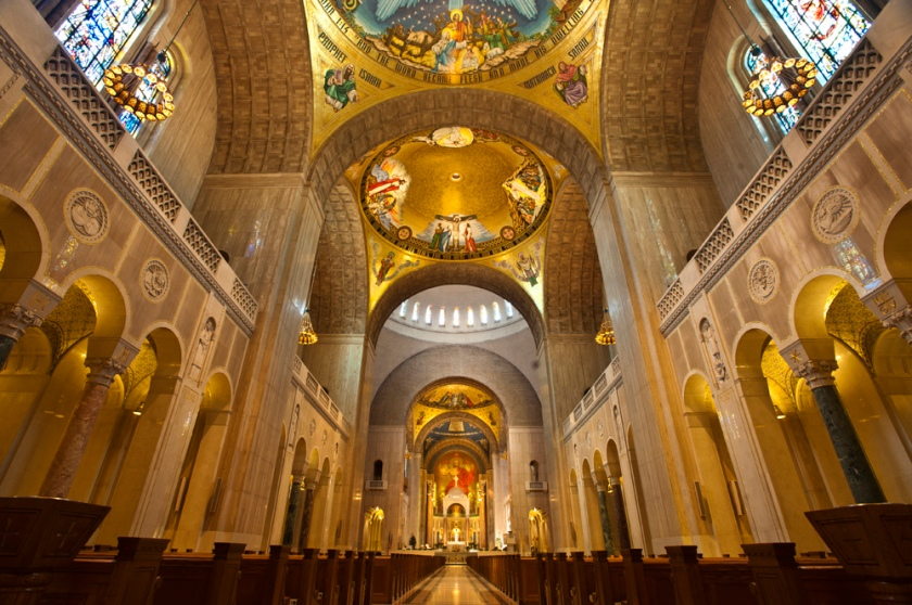 The Basilica of the National Shrine of the Immaculate Conception in Washington, DC, where Justice Scalia's funeral mass is being held this morning.