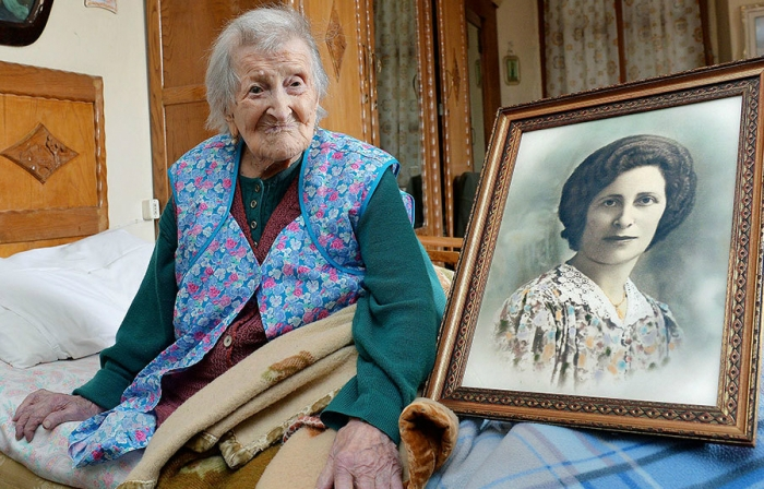 In Verbania, Italy on Friday, Emma Morano became the oldest person in the world at age 115. Born on Nov. 29, 1899, she is believed to be the last surviving person in the world born in the 1800s. (Photo: Antonino Di Marco/ANSA/AP)