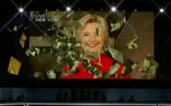 """Hillary Clinton breaks """"glass ceiling"""" at Democratic Convention."""