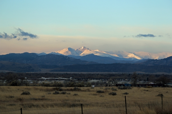 Longs Peak as seen from Fort Collins, Colo. (Photo: Crockerj.com)