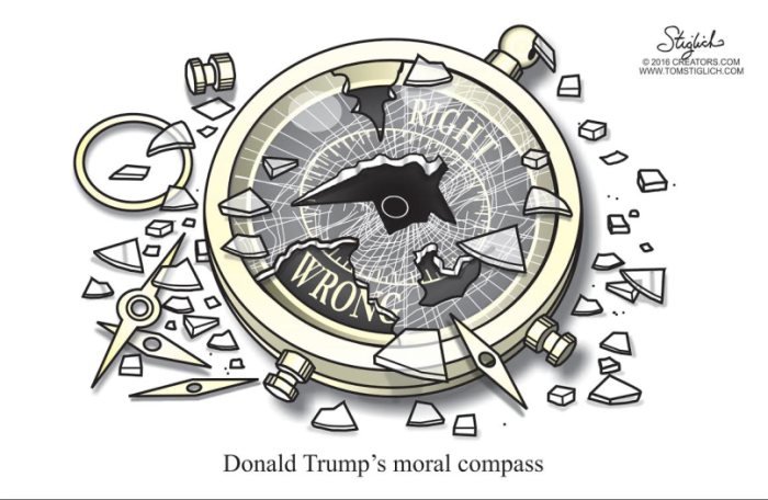 Trump's broken moral compass