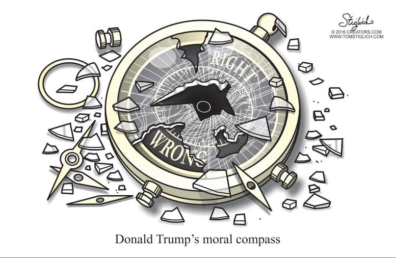 Trump's broken moral compass