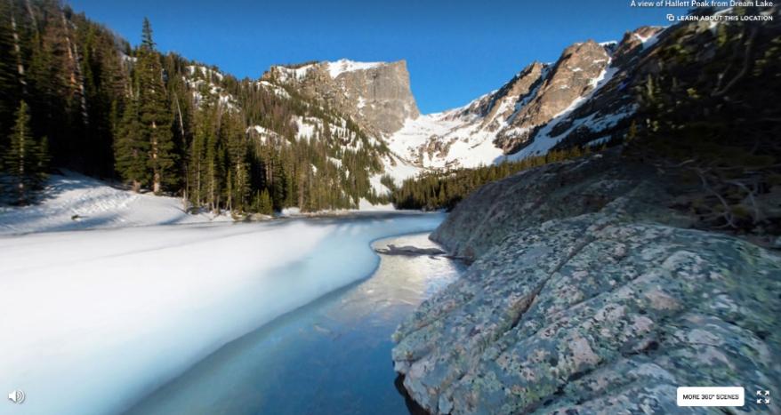 Hallett Peak as seen from Dream Lake in Rocky Mountain National Park