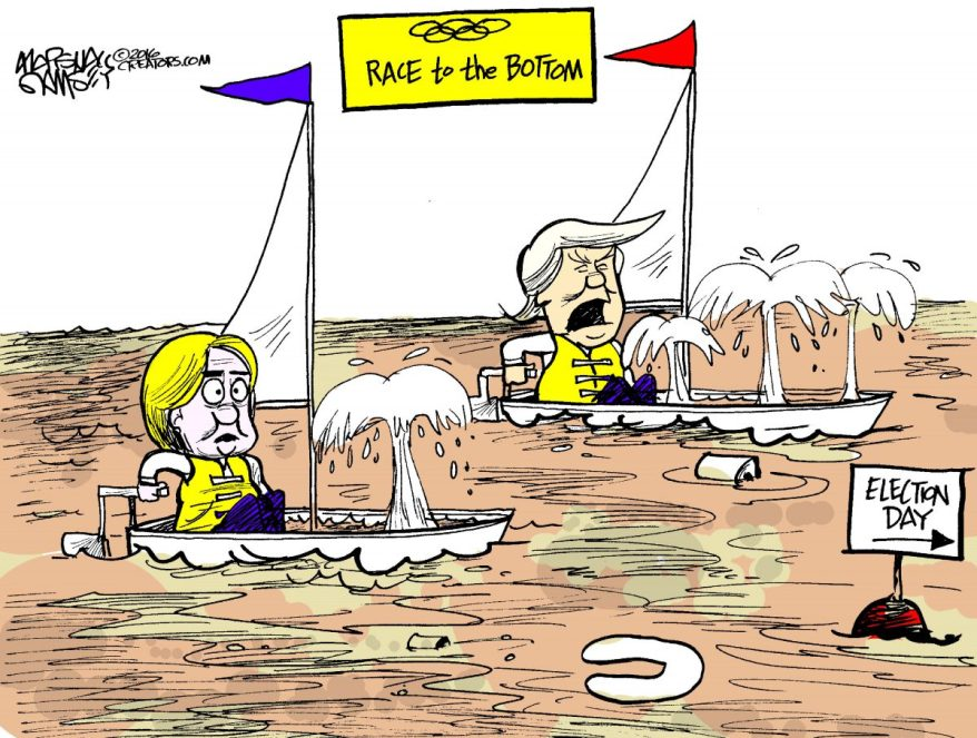 Hillary and Trump in a race to the bottom ... er, finish line.