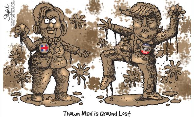 Thrown mud is ground lost