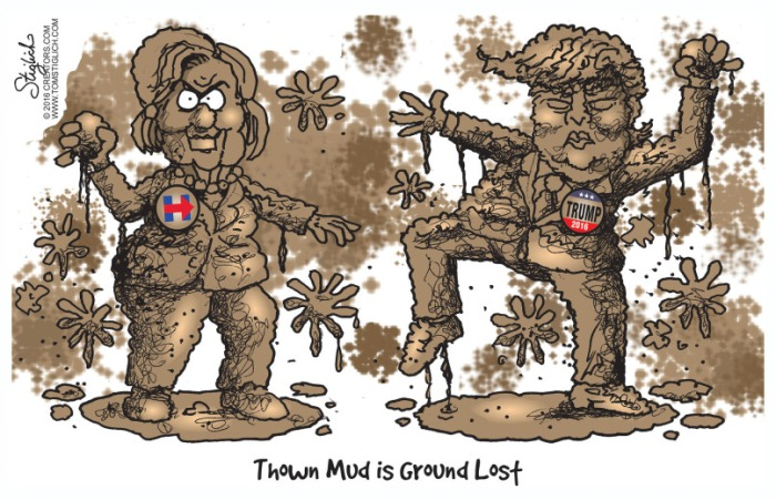 Thrown mud is ground lost