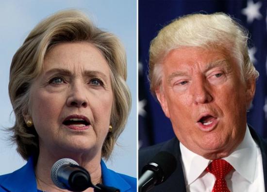 Hillary Clinton, Donald Trump