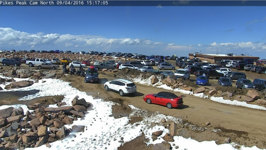 Labor Day on top of Pikes Peak