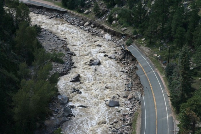 Flooding in Big Thompson Canyon, Sept. 2013. (Photo: CDOT)