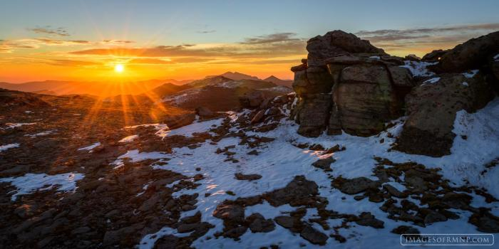 Sunrise on Trail Ridge Road in Rocky Mountain National Park, November 5. © Erik Stensland. Reprinted with permission.