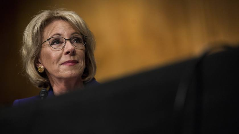 Betsy DeVos. (Photo: Zach Gibson/Bloomberg/Getty)