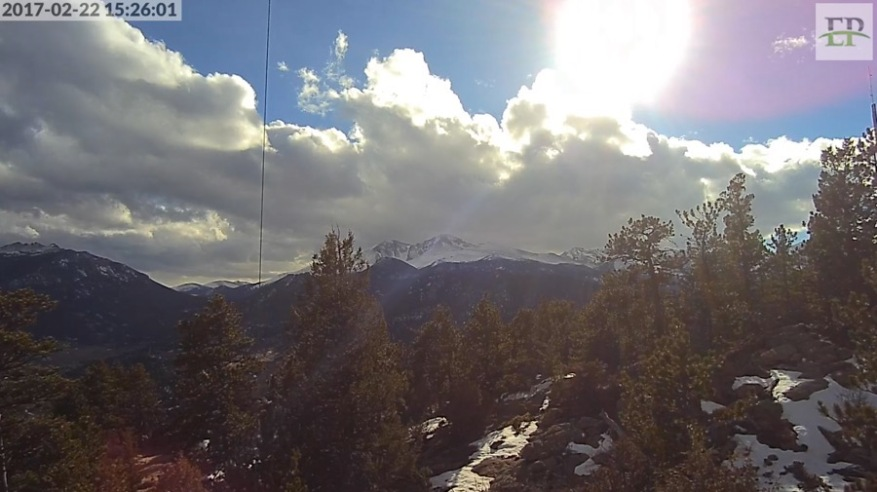 New Longs Peak webcam has sound.
