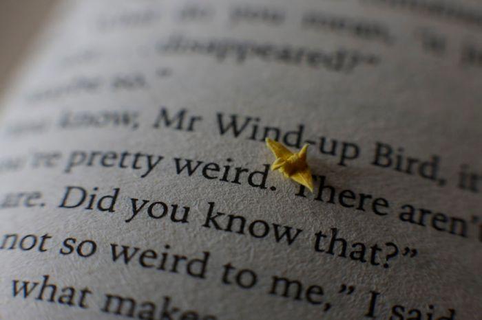 Tiny origami crane by David Kawai (Photo: David Kawai)