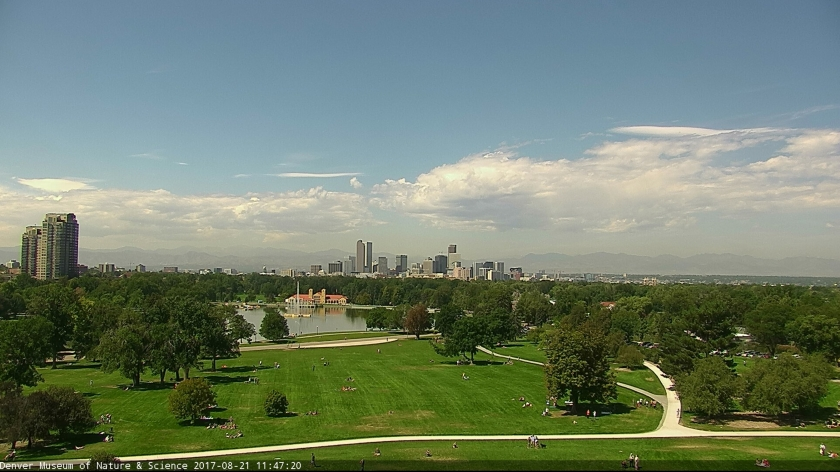 Denver at 11:47 am, the peak of the 92% eclipse.