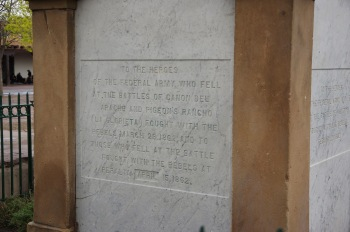 "Inscription that uses the word ""rebels"" instead of ""Confederates."""