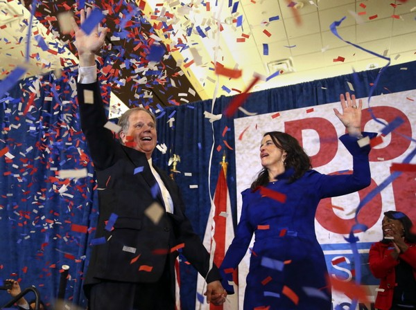 Alabama Senator-elect Doug Jones and his wife Louise