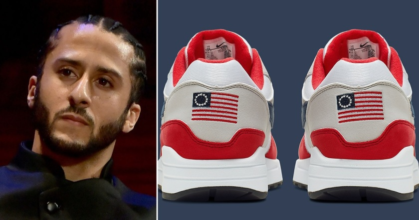 Colin Kaepernick and Nike's Betsy Ross shoes