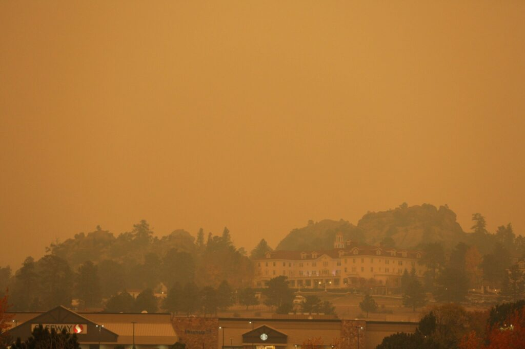 When the evacuation was ordered, Estes looked like this. (Photo: Sally Gaddis)