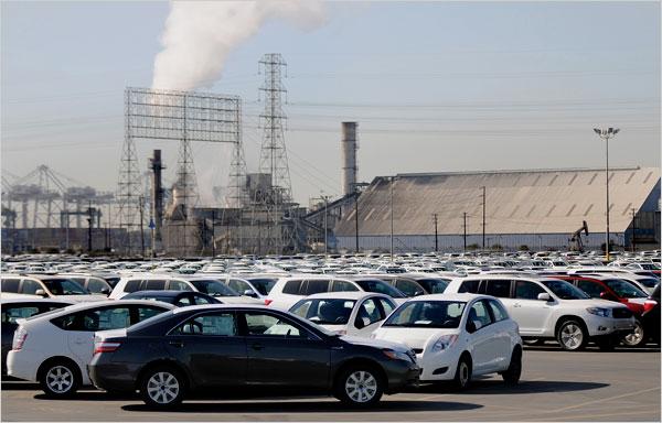New Toyotas backlogged at Long Beach docks