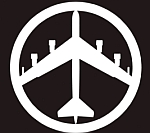 Modern adaptation of bomber peace symbol